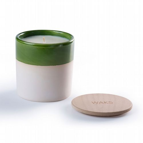 Waks - Scented Candle In Clay Pot - Green - Wild Fig